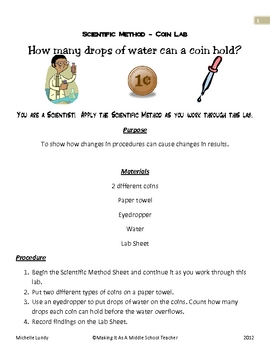 Scientific Method ~ Coin Lab
