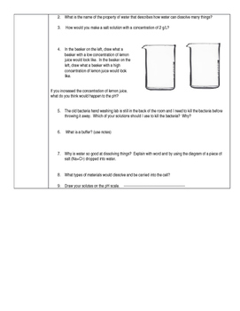 Scientific Method: Concentration and pH Lab