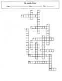 Scientific Method Crossword Puzzle with Key