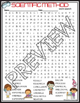 Scientific Method Crossword Puzzle and Word Search Find Activities