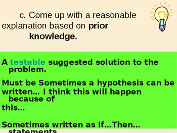 Scientific Process Part 3