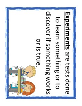 Scientific Method Definition Cards