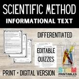 Scientific Method Differentiated Reading Passages | Distan