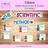 Scientific Method EDITABLE Bulletin Board Posters and Stud