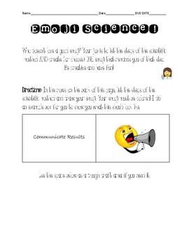 Scientific Method Emoji Assignment