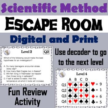 Scientific Method Activity: Escape Room - Science