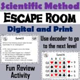 Scientific Method Activity: Breakout Escape Room Science Game