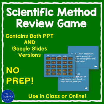 Scientific Method  Jeopardy Game