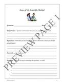 Scientific Method - Experiment Fill-in Sheet   4th-8th Grades