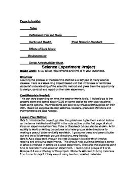 Scientific Method Experiment Project