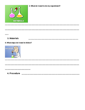Scientific Method Experiment Sheet