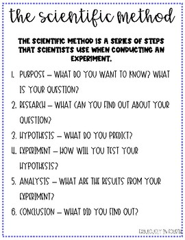 Scientific Method Experiment Worksheet