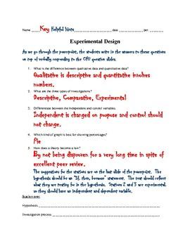 Scientific Method Experimental Design