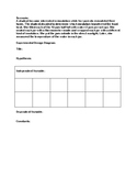 Scientific Method Experimental Design Scenario/Diagram w/e