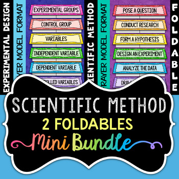Scientific Method Foldables - Minibundle - Includes 2 Foldables for INBs!