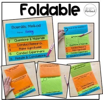 Scientific Method Foldable Book, Worksheet & Blank Powerpoint
