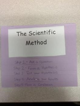 Scientific Method Foldable with Frayer Model Graphic Organizer with Quiz