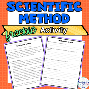 Scientific Method Free Real Life Application Activity FREEBIE