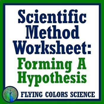Scientific Method GENERATING A HYPOTHESIS Worksheet or Homework