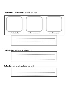 Scientific Method - Gobstopper Experiment Recording Sheet