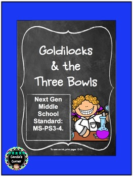 A Heat Transfer Experiment: Goldilocks & the Three Bowls