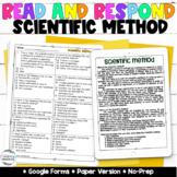 Scientific Method Passage & Quiz | Google Forms | Science