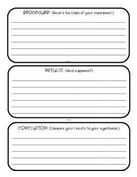 Scientific Method Graphic Organizer & Posters