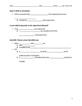 Scientific Method Guided Notes & Vocabulary