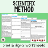 Scientific Method - Guided Reading - Print & Google Versions