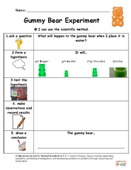Scientific Method Gummy Bear Experiment