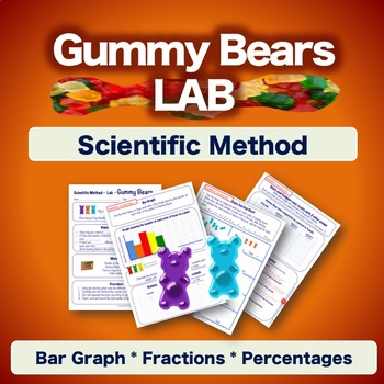 Scientific Method Experiment - Gummy Bears Lab - Worksheets NO PREP