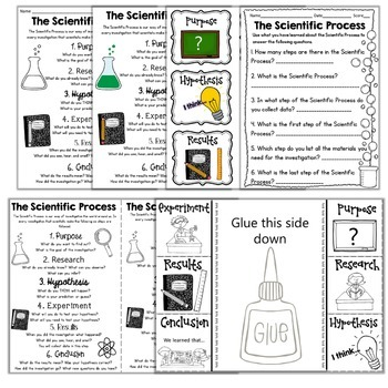 Scientific Process or Method Activities, Worksheets, Notebook Pages