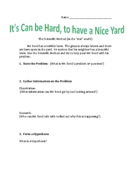 Scientific Method - Hard to Get a Good Yard