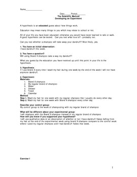 Scientific Method Homework