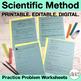 Scientific Method Worksheets, Homework or Study Guide