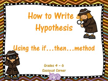 Writing a good hypothesis ppt