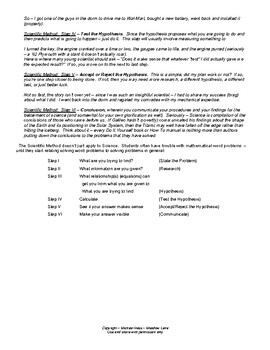 Introduction and Scientific Method - I