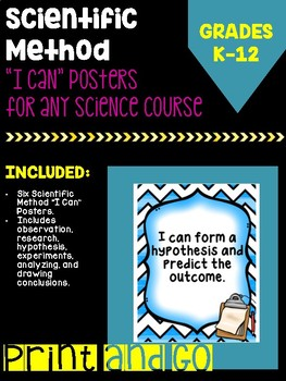 """Scientific Method """"I Can"""" Posters"""