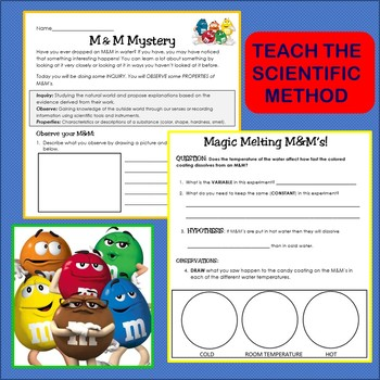 Scientific Method Inquiry Activity with M&M's- Experiment Introduction