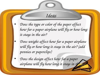 Scientific Method Inquiry Lab Paper Airplanes