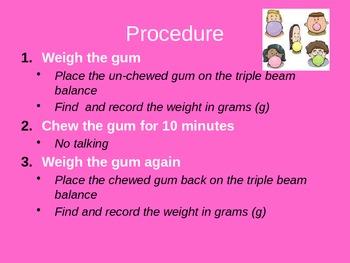Scientific Method Inquiry Lab with Bubble Gum