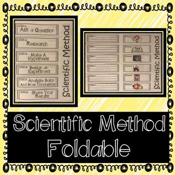 Scientific Method Interactive Notebook Foldable