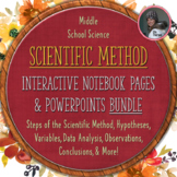 Scientific Method Interactive Notebook Pages Bundled PACKAGE
