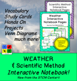 Scientific Method Interactive Notebook & Weather Interactive Notebook