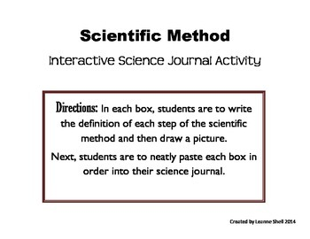 Scientific Method - Interactive Science Journal