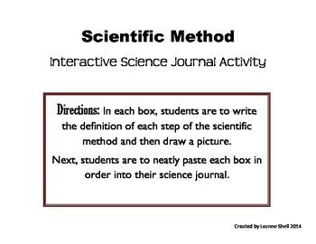 Scientific Method - Interactive Science Journal