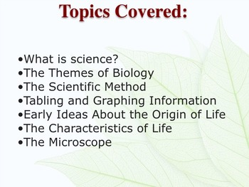 Scientific Method, Intro to Biology, Microscope Jeopardy Review Game