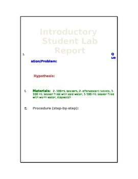 Scientific Method Introductory Lab