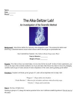 Scientific Method Lab:  Alka Seltzer Tablets!