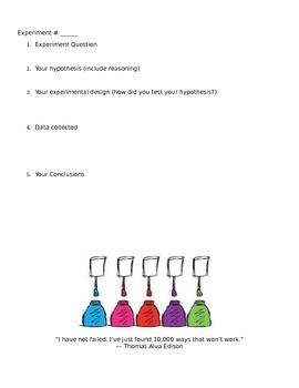 Scientific Method Lab (Intro)